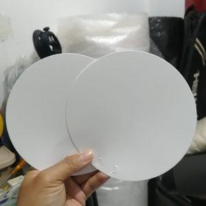 Daun Kipas Plastik Polos bahan PP/PVC putih 15cm